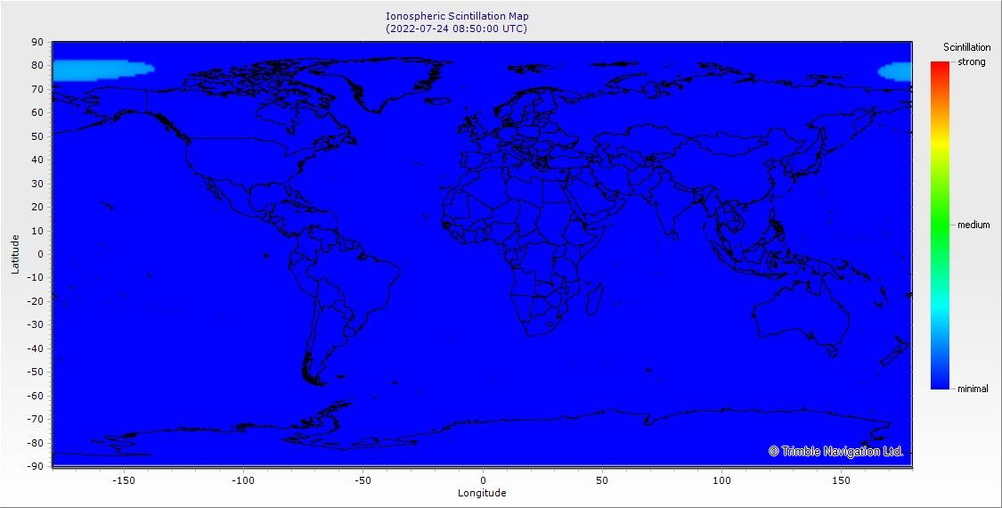 World Map of the Ionosphere Scintillation Level